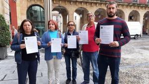 FAV Xixón rueda de prensa arramaos Piles animales muertos