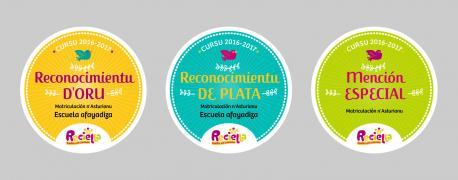 Reciella entrega en Xixón los sos reconocimientos 'Escuela afayadiza'