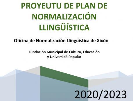 Portada Plan de Normalización Llingüística de Xixón 2020-2023