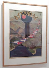 """Cartel """"Asturias os espera"""", M. Moré 1929"""