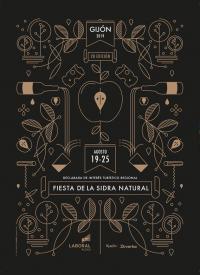 Cartelu de la XXVIII Fiesta de la Sidra Natural Xixón