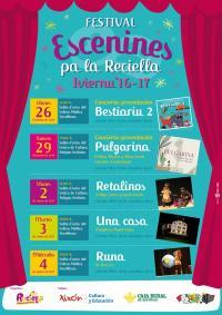 'Cartelu 'Escenines pa la Reciella 2016-2017'