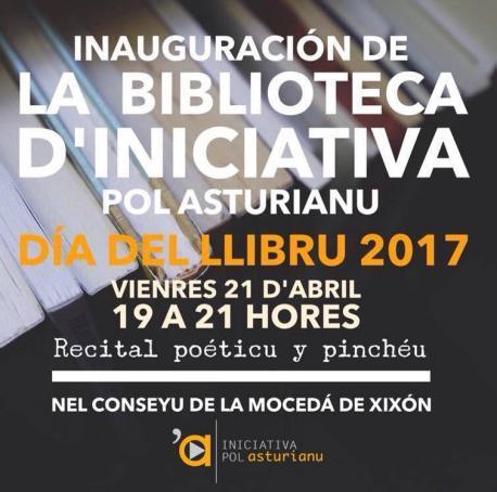 Inauguración de la Biblioteca d'Iniciativa pol Asturianu