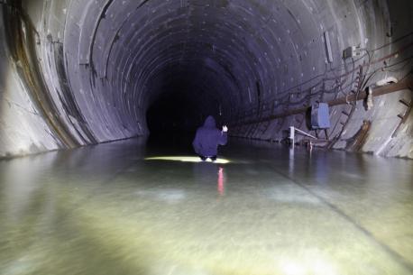 Inundación túnel del metrotrén