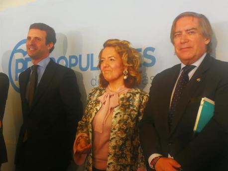 Pablo Casado, Teresa Mallada y Alberto López-Asenjo
