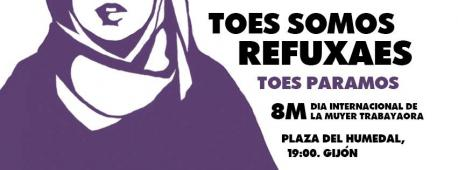 Manifestación Día de la Muyer Trabayadora