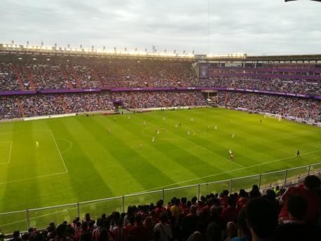 Valladolid 3-1 Sporting (7 de xunu del 2018) visión amplia