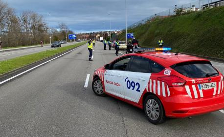 Control policial zarru perimetral Xixón