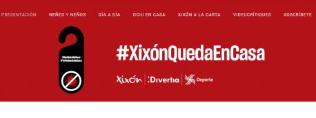 Web #XixónQuedaEnCasa captura