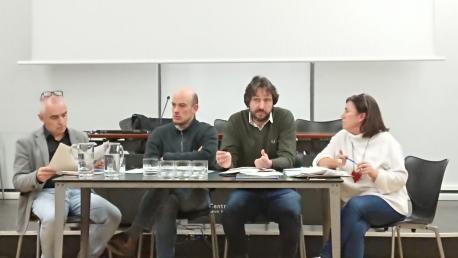 Antón García, Miguel Barrero, Alberto Ferrao y María Xosé Rodríguez Conseyu Asesor