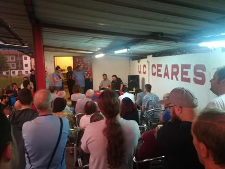 Los socios del UC Ceares defenden el prau natural de La Cruz y llamen a Tuero a respetar los compromisos