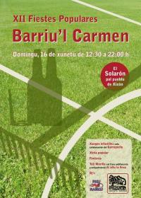 XII Fiestes Populares del barriu'l Carmen