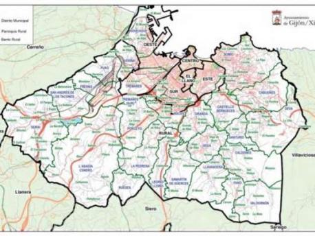 Mapa de Xixón