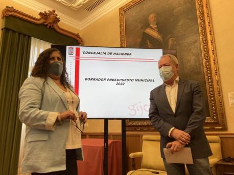 Marina Pineda y Aurelio Martín borrador presupuestos 2022