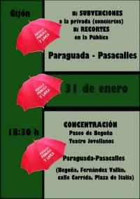 Paraguada en defensa de la enseñanza pública